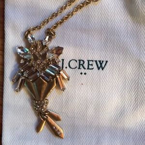 NWT J.Crew Factory crystal & gold pendant necklace
